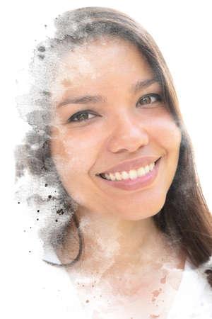 A creative female paintography portrait