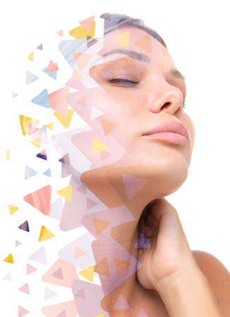 A sugary portrait of a dreaming woman Reklamní fotografie
