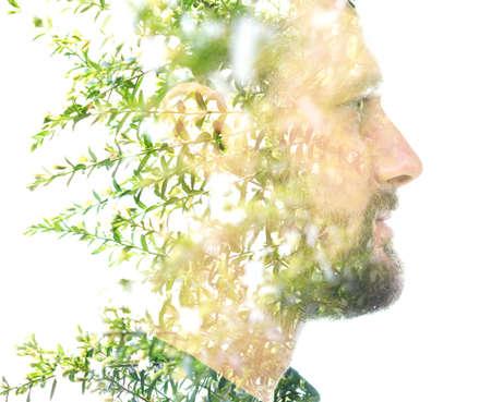 A refreshing portrait of a Caucasian man Reklamní fotografie