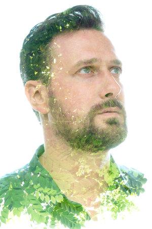 A picturesque portrait of a man with beard Reklamní fotografie