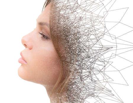 A spiky portrait of an attractive woman Reklamní fotografie