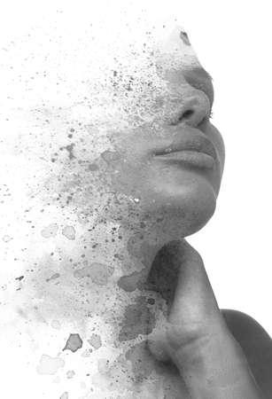 A dramatic portrait of a caucasian woman