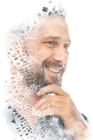 Ethnic portrait of a smiling man