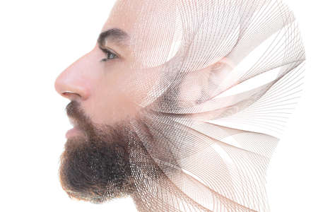 A digitally processed portrait of a man