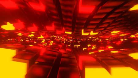 A concept abstract neon light 3D render Stock fotó