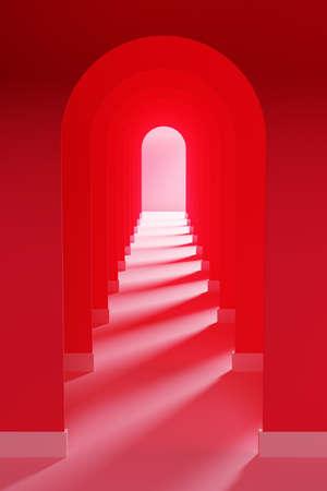 Bright 3D illustration of arches Foto de archivo