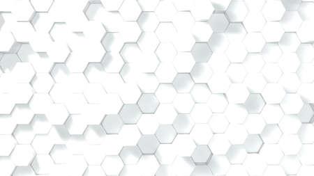 3D illustration of a hexagonal pattern