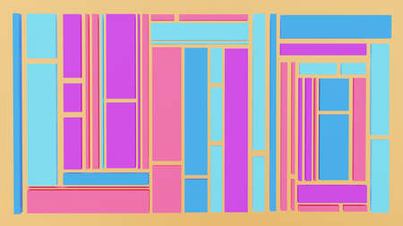 3D illustration of multiple rectangles formaing an abstract baclgrpund