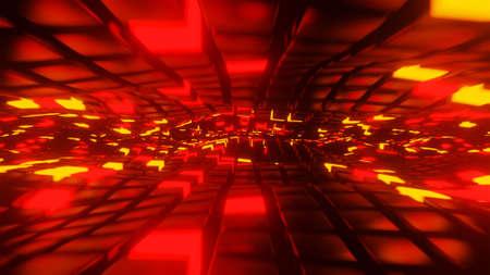 A lit cubes pattern 3D render