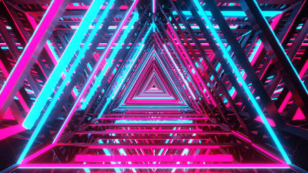 Shiny surfaces forming an abstract background. 3D illustration