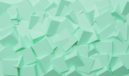 Abstract background formed by multiple cubes merged . 3D illustration