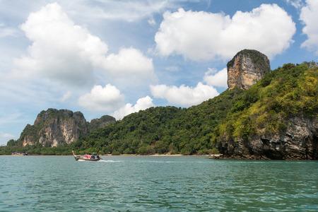 rai lay: Eastern Rai Lay beach, Krabi, Thailand. Stock Photo