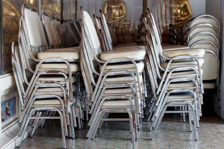stacking: Stacking of chairs to keep good order.