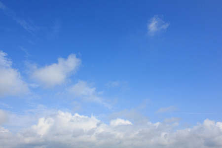 distinctness: Beautiful white clouds and Bright blue sky in the moring. Stock Photo