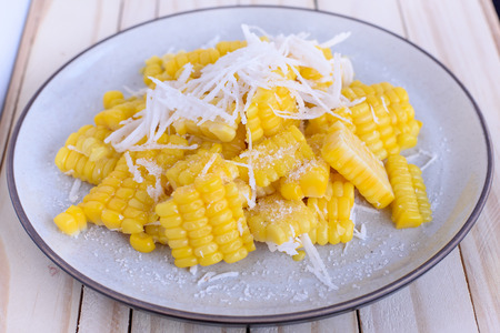 Corn mix sugar and coconut fuzz. Stock Photo