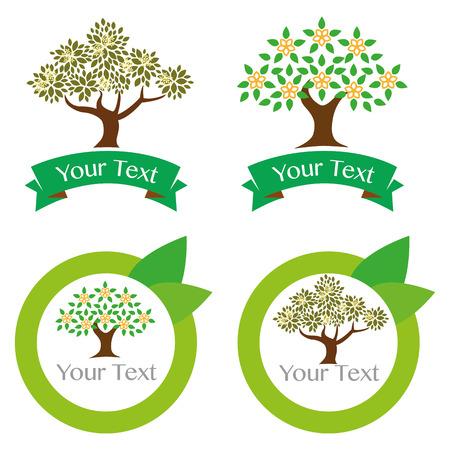 leaf tree: Green Leaf albero logo