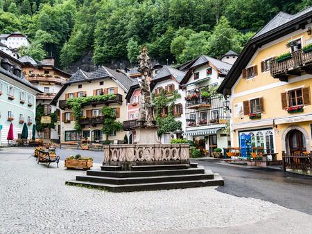 world culture: Hallstatt by Salzburg, Austria, traditional austrian wood village, UNESCO world culture heritage site Editorial