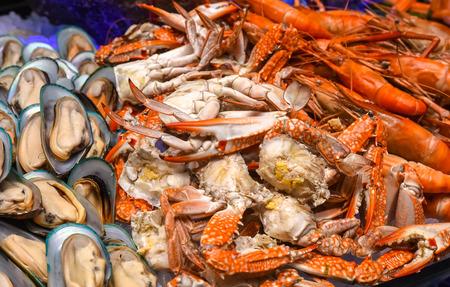 mariscos: Mezcla de los mariscos de primer plano