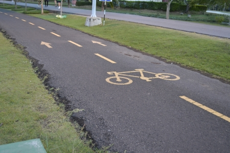 Road for bicycles photo
