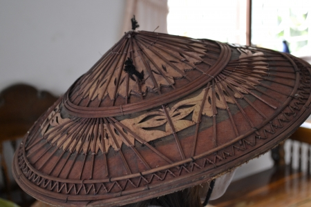 conical hat: Hats made of wood