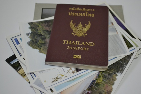 Passport and photos  photo