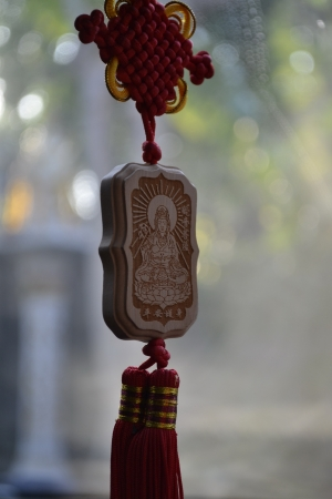 Guan Yin is made of wood  photo
