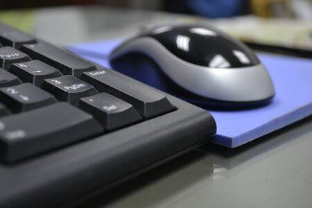 ergonomics: Keyboard and mouse  Stock Photo