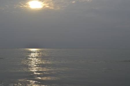 Morning sun at the beach in Hua Hin - Thailand