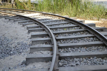 arrive: Railroad tracks