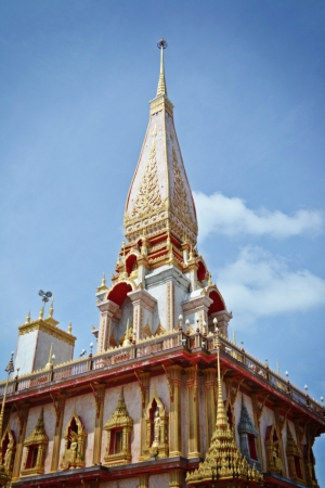 Pagoda in Wat Chalong Temple, Phuket, Thailand photo