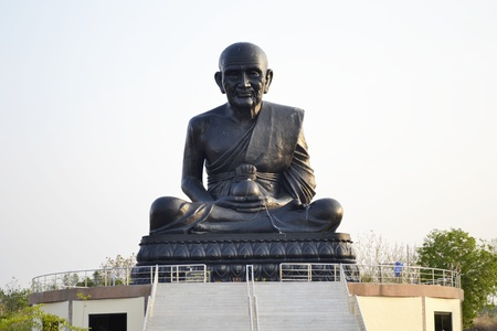 pu: Luang Pu Thuat Brahma temple artisans radiation