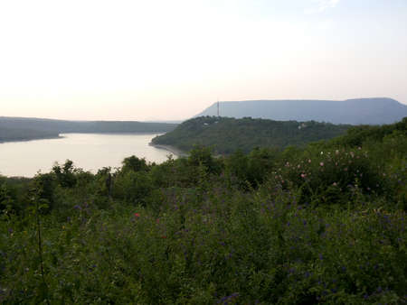 Water Storage Dam in Nakhon Ratchasima, Thailand. Stock Photo