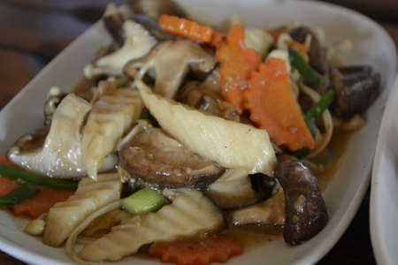 Fried Mushrooms-Thailand Food