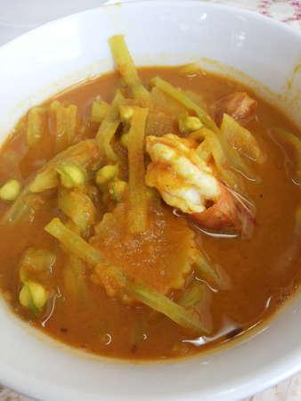 Thailand food - curry shrimp Stock Photo