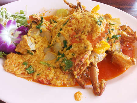 Thailand food - crab curry.