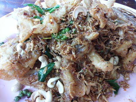 pescado frito: pescado frito Foto de archivo