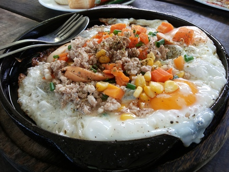 egg dish Stock Photo