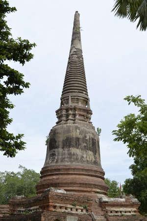 Wat Yai Chaimongkol in Ayutthaya, Thailand.