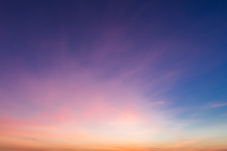 Colorful sky during sunset. Stock Photo