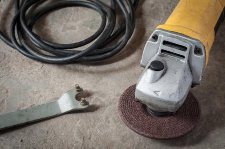 grinder machine: Grinder machine tools in craftsman factory Stock Photo