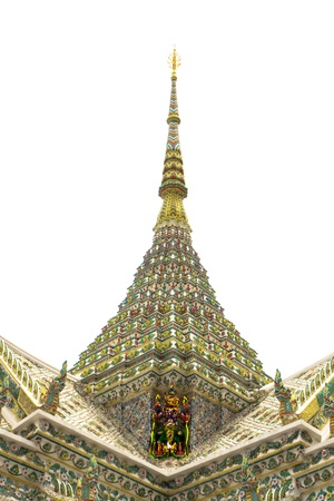 buddhist temple roof: colorful buddhist temple roof in thailand  it