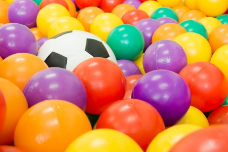 color balls in a classroom Stock Photo