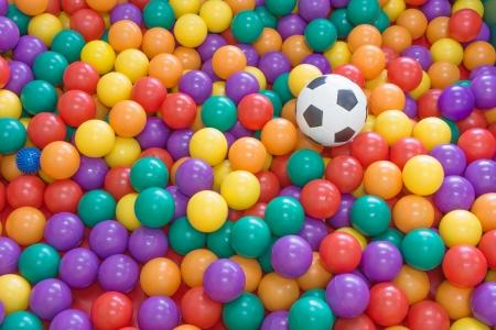 football and colorfull ball