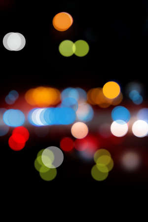 bokeh on the road from cars photo