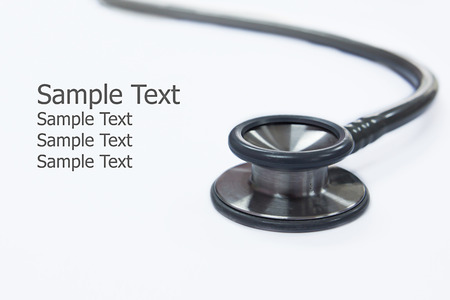 stetoscope: stetoscope which doctor use to hear heart beat Stock Photo