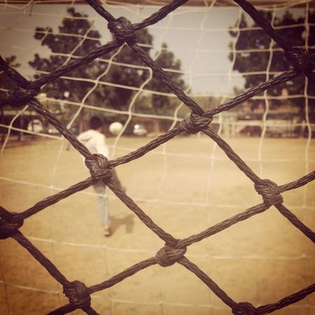 red: F�tbol Foto de archivo