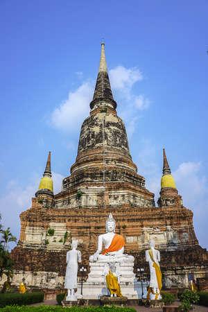 historic site: old capital historic site in ayudhaya thailand