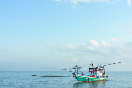 a finshing boat is ready to cash fish photo