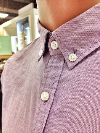 Cotton shirt with button