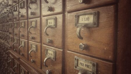 drawers: Old index drawers